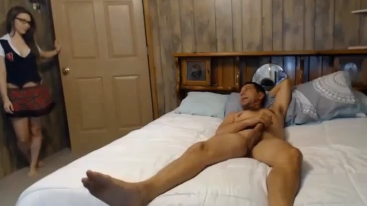 Daddy Gets Caught Stroking