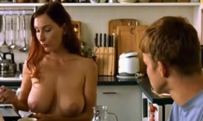 Naughty naked mommy and boy fun in the kitchen 6